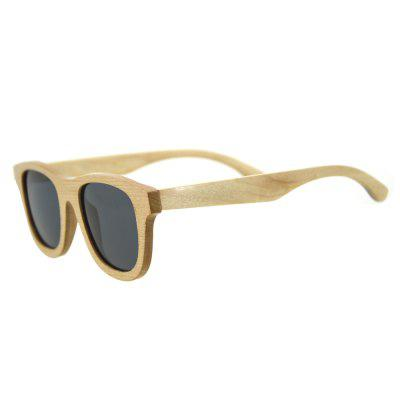 Round Wood Frame Ultraviolet-proof Glasses for Men