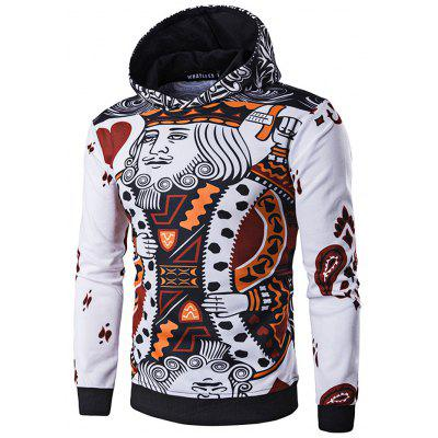 WHATLEES 3D Long Sleeve Poker Hoodie