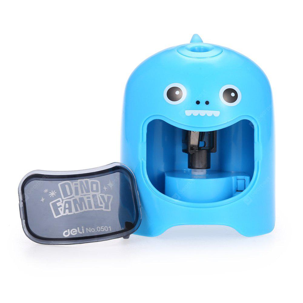 BLUE Deli 0501 Cartoon Pattern Full-automatic Pencil Sharpener