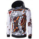 WHATLEES 3D Long Sleeve Poker Hoodie - AS THE PICTURE