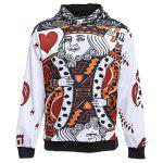 cheap WHATLEES 3D Long Sleeve Poker Hoodie