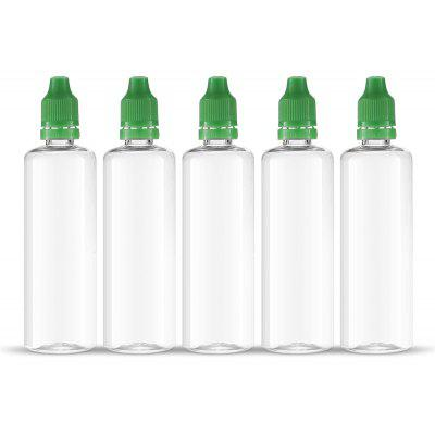 5pcs / Pack 100ml E - juice Refiller Transparent Electric Cigarette E - liquid Juice Bottle with Needle Tip