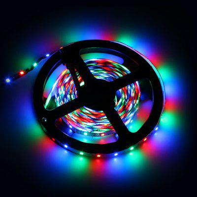 Excelvan 16.4ft 5M Flexible strip SMD3528 RGB 300LEDs Color Changing LED Light Strip Kit, 44Key IR Remote Control+ 2A Power Adapter, Multi-color Blossom Decorative Gardens, Lawn, Patio, Christmas Tree