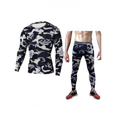 Male Camo Tight Training Suit