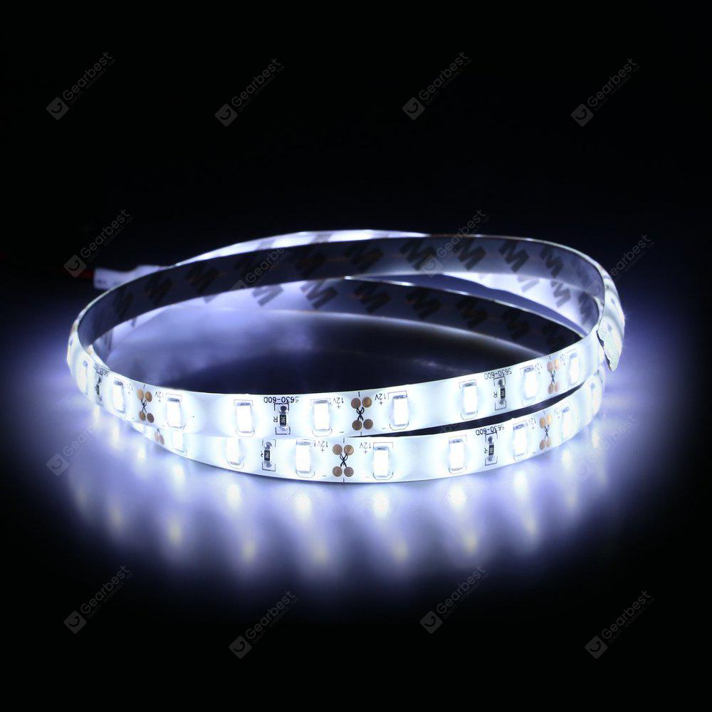 WHITE 1M 17.4W 60 SMD 5630 LED DC12V White Waterproof IP65 Car Decoration Light Strip