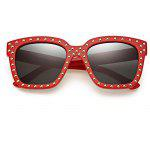 SENLAN 58013 UV-resistant Sunglasses with PC Lens - RED + BLACK