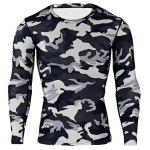 Male Camo Tight Training Suit - BLACK AND GREY