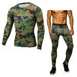 Fitness Training Suit - ARMY GREEN CAMOUFLAGE