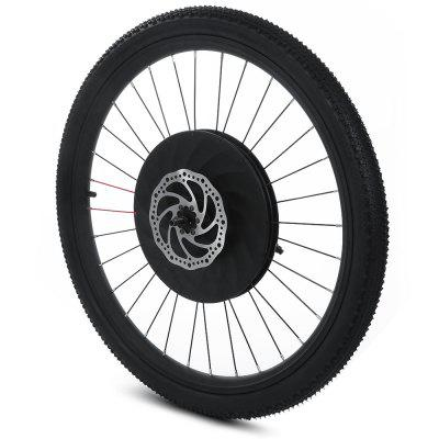 YUNZHILUN iMortor 26 inch Smart Electric Front Bicycle Wheel  -  BLACK-vente flash