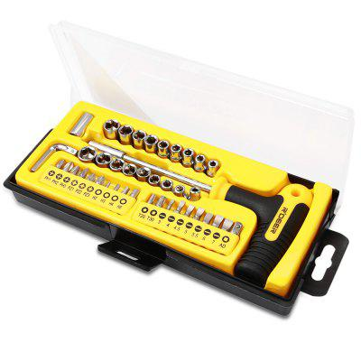 Robust Deer RT - 1643 43PCS T Style Multifunction Ratchet Screwdriver Socket Set