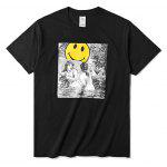 Pure Cotton Weird T Shirts - BLACK