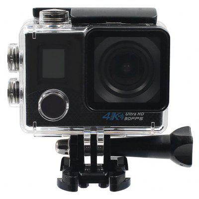 Buy BLACK V6 4K WiFi Action Camera Allwinner V3 Chipset for $56.09 in GearBest store
