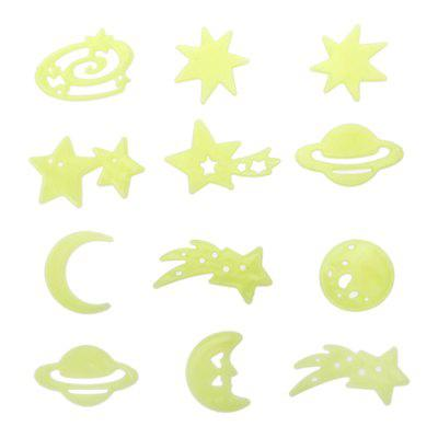 12PCS Home Wall Stickers Dreamy Noctilucent Sticks Glow in The Dark