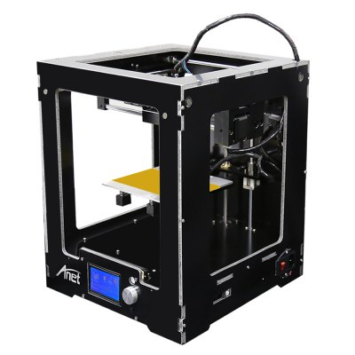 Anet A3 Full Aluminum Plastic Frame Assembled 3D Printer3D Printers, 3D Printer Kits<br>Anet A3 Full Aluminum Plastic Frame Assembled 3D Printer<br><br>Brand: Anet<br>File format: STL, G-code<br>Host computer software: Cura<br>LCD Screen: Yes<br>Material diameter: 1.75mm<br>Memory card offline print: TF card<br>Model: A3<br>Nozzle diameter: 0.4mm<br>Nozzle quantity: Single<br>Package size: 35.00 x 35.00 x 48.50 cm / 13.78 x 13.78 x 19.09 inches<br>Package weight: 12.0500 kg<br>Packing Contents: 1 x A3 Assembled 3D Printer<br>Packing Type: Assembled packing<br>Print speed: 40 - 120mm/s<br>Product size: 31.50 x 33.30 x 37.50 cm / 12.4 x 13.11 x 14.76 inches<br>Product weight: 10.0000 kg<br>Type: Complete Machine<br>Voltage: 110V/220V<br>XY-axis positioning accuracy: 0.012mm<br>Z-axis positioning accuracy: 0.004mm