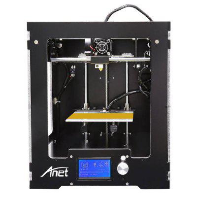 Anet A3 Full Aluminum Plastic Frame Assembled 3D Printer3D Printers, 3D Printer Kits<br>Anet A3 Full Aluminum Plastic Frame Assembled 3D Printer<br><br>Brand: Anet<br>File format: STL, G-code<br>Host computer software: Cura<br>LCD Screen: Yes<br>Material diameter: 1.75mm<br>Memory card offline print: TF card<br>Model: A3<br>Nozzle diameter: 0.4mm<br>Nozzle quantity: Single<br>Package size: 35.00 x 35.00 x 48.50 cm / 13.78 x 13.78 x 19.09 inches<br>Package weight: 12.0500 kg<br>Packing Contents: 1 x A3 Assembled 3D Printer<br>Packing Type: Assembled packing<br>Print speed: 40 - 120mm/s<br>Product size: 31.50 x 33.30 x 37.50 cm / 12.4 x 13.11 x 14.76 inches<br>Product weight: 10.0000 kg<br>Voltage: 110V/220V<br>XY-axis positioning accuracy: 0.012mm<br>Z-axis positioning accuracy: 0.004mm