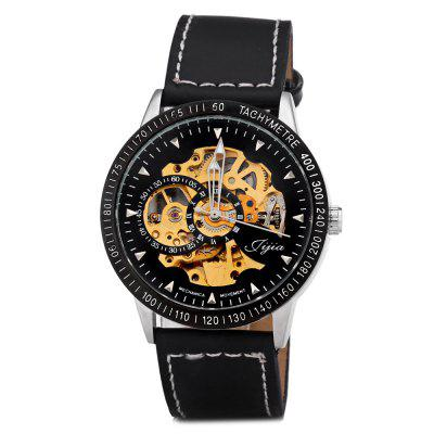 Jijia 8010 Automatic Mechanical Male Watch Hollow - out with Leather Strap Round DialMens Watches<br>Jijia 8010 Automatic Mechanical Male Watch Hollow - out with Leather Strap Round Dial<br><br>Available Color: Black,White<br>Band color: Black<br>Band material: Leather<br>Brand: Jijia<br>Case material: Alloy<br>Clasp type: Pin buckle<br>Display type: Analog<br>Movement type: Automatic mechanical watch<br>Package Contents: 1 x Watch<br>Package size (L x W x H): 26.50 x 5.20 x 2.40 cm / 10.43 x 2.05 x 0.94 inches<br>Package weight: 0.1190 kg<br>Product size (L x W x H): 25.50 x 4.20 x 1.40 cm / 10.04 x 1.65 x 0.55 inches<br>Product weight: 0.0690 kg<br>Shape of the dial: Round<br>Style elements: Hollow Out<br>The band width: 2.0 cm / 0.8 inches<br>The dial diameter: 4.2 cm / 1.7 inches<br>The dial thickness: 1.4 cm / 0.6 inches<br>Watch style: Business<br>Watches categories: Male table