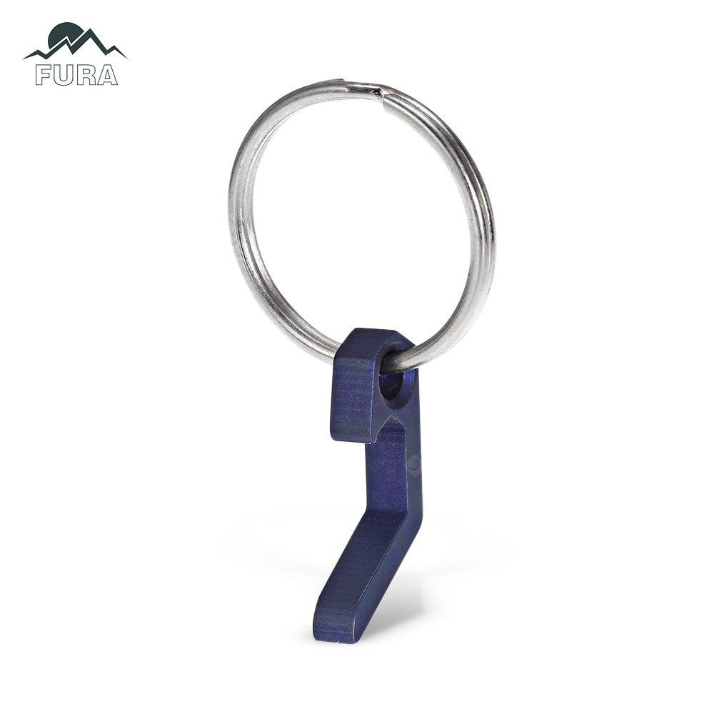 FURA TC4 Titanium Alloy Mini Bottle Opener / Flat Screwdriver