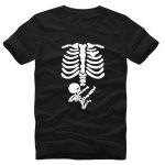 Cotton Skull Infant Weird T Shirts - WHITE AND BLACK