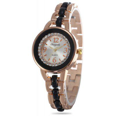 Chaoyada Women Rhinestone Quartz Watch