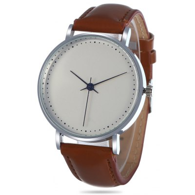 3003 Quartz Watch Leather Band Unisex Wristwatch