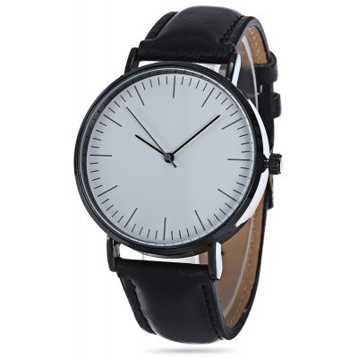 Fashion 3001 Quartz Watch Leather Band Wristwatch