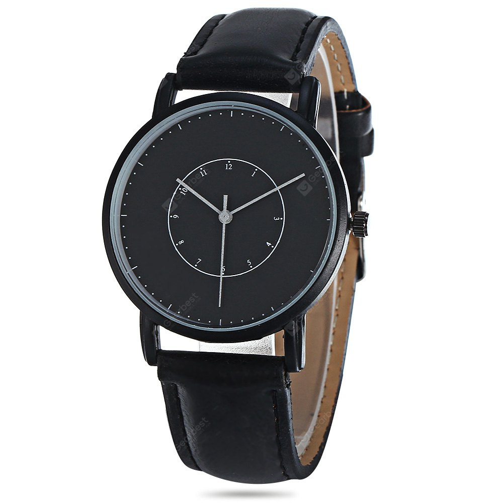 3002 Quartz Watch with Leather Band
