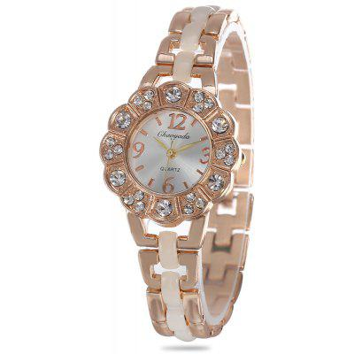 Chaoyada Flower Shaped Dial Female Quartz Watch