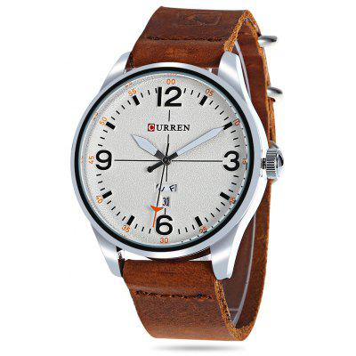 Buy CURREN 8265 Quartz Watch for Men WHITE AND BROWN Watches & Jewelry > Men's Watches for $22.82 in GearBest store