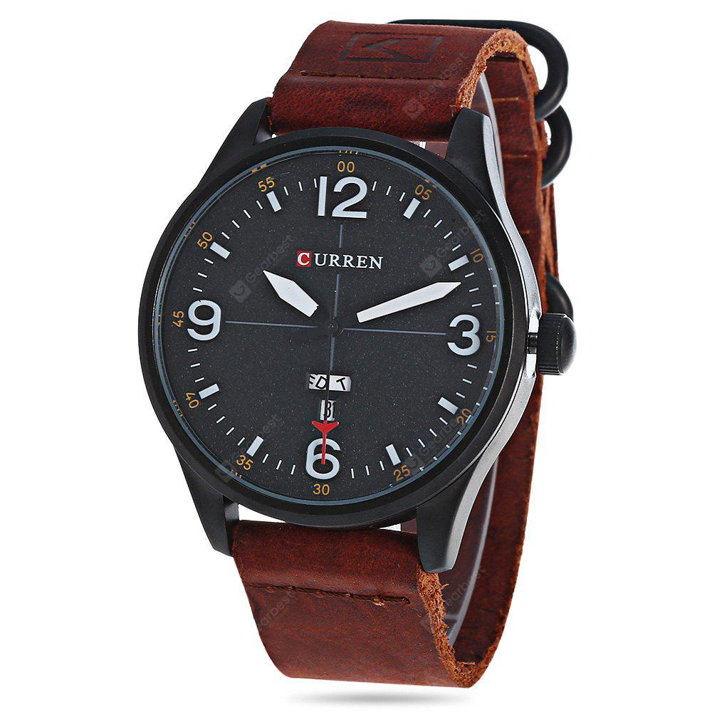 CURREN 8265 Quartz Watch for Men, BLACK AND BROWN, Watches & Jewelry, Men's Watches