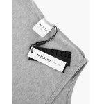 Women Crew Neck Knotted Gray T Shirt - GRAY