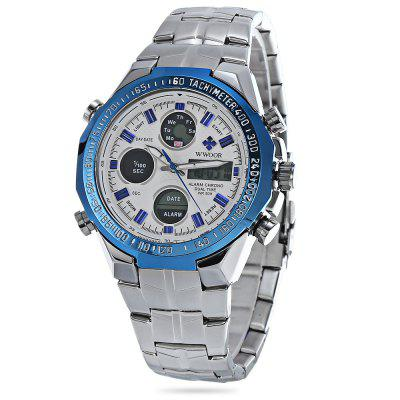 WWOOR 8109 Double Movt Male Digital Analog Watch