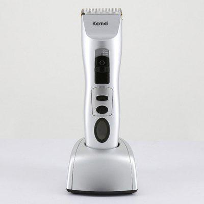 Buy Kemei KM-1201 Electric Hair Razor Trimmer Machine Kit SILVER for $32.00 in GearBest store