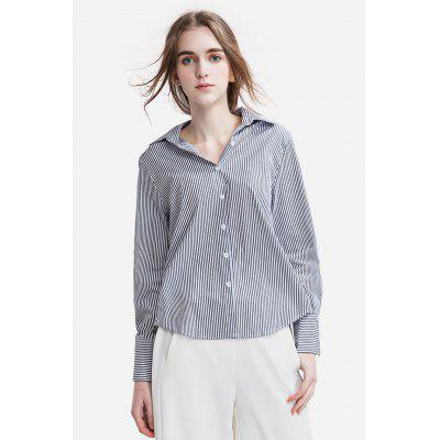 Long Sleeve Pinstripe Shirt for Women