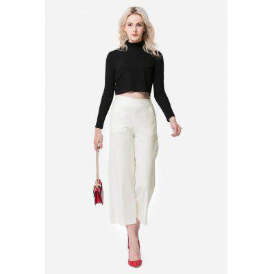 Solid Color Straight Women Loose Pants