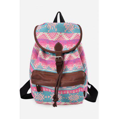 Buy PINK VERTICAL Douguyan Floral Backpack for $29.58 in GearBest store