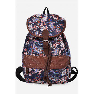 Buy CADETBLUE VERTICAL Douguyan Floral Backpack for $29.58 in GearBest store