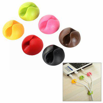 6Pcs Practical Desktop Wire Cable Clips