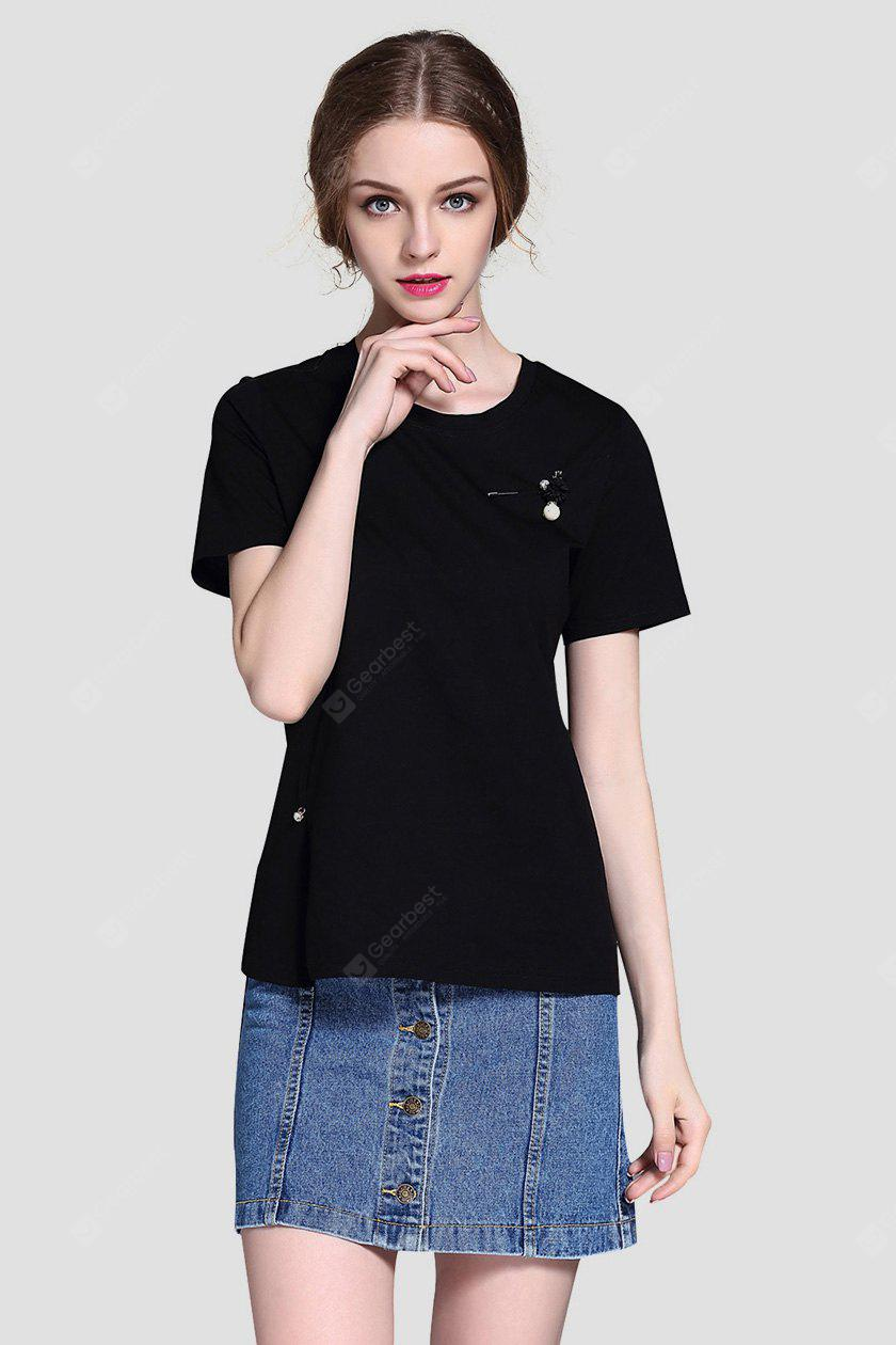 Loose Short Sleeve Women Cotton T-shirt