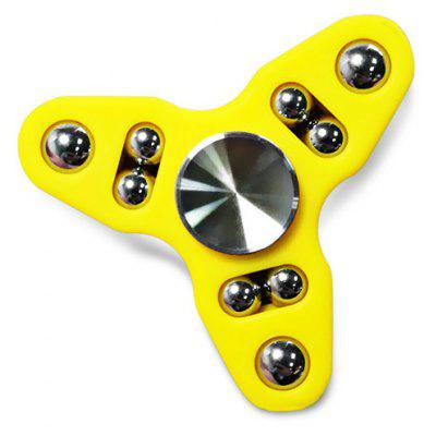 Buy YELLOW 9-ball Tri-spinner Hand Spinner Fidget Toy Stress Reliever Tool for $3.81 in GearBest store