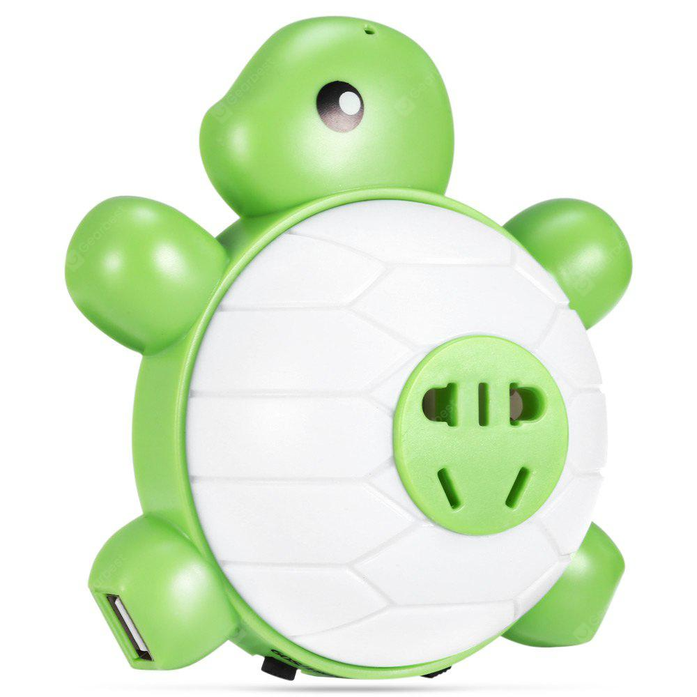 WARM WHITE Super Cute Socket USB Charging Turtle LED Night Light with Light / Voice Control