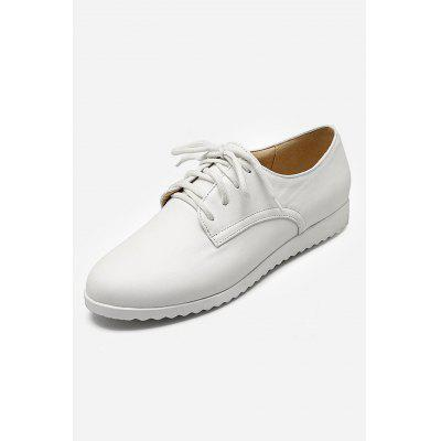 Simple Pure Color Women Flat Sneakers