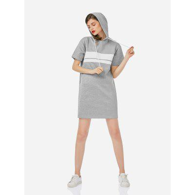 ZANSTYLE Drawstring Fleece Dress Hoodie