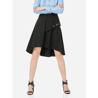 ZANSTYLE Women Black A Line Skirt