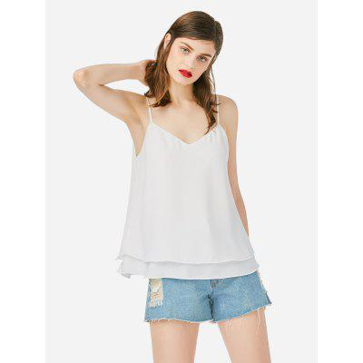 ZANSTYLE Mujeres Tank Top Blanco