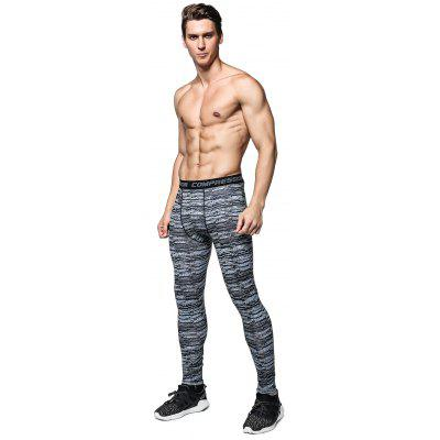 Buy BLACK L Striped Training Compression Tights for $12.51 in GearBest store
