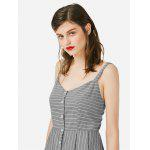 Women A Line Gray Sleeveless Dress - GRAY
