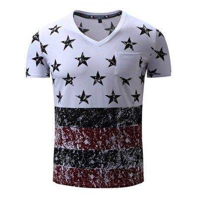 FREDD MARSHALL Printed Front Pocket T Shirts