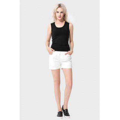Basse taille taille pure femmes Jean Shorts
