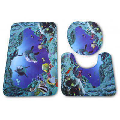 Sea Fish Badezimmer WC Teppich Matte Set