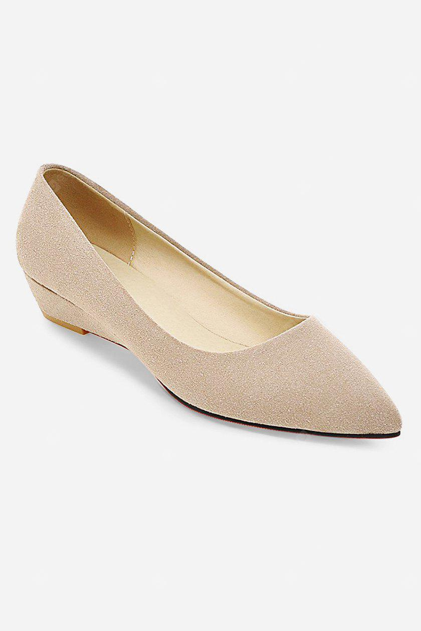 Women Low Heel Pointed Toe Leisure Pumps